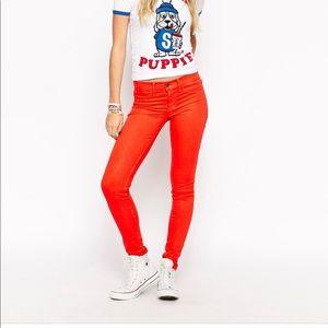 Wild fox Marianne skinny jeans in love struck EUC